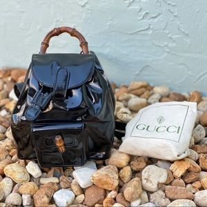 Authentic Gucci Mini Bamboo Backpack